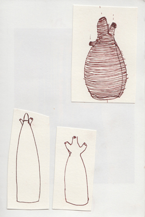 design drawings for _silt_, sketchbook, 2009 - Cathy Keys