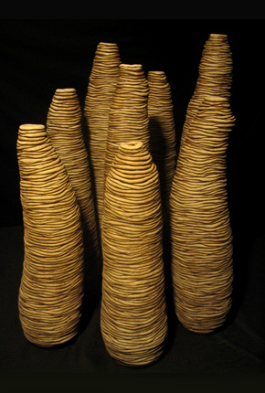 _brown soil boab_, 2006, stoneware ceramics, oxides, cluster – 60cm(h)x130(l)x80(w), photographer -  Cathy Keys