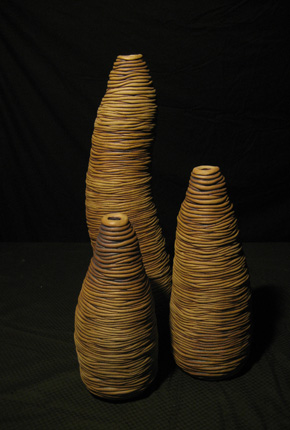 _brown soil boab_, 2006, stoneware ceramics, oxides, pieces between 43cm-20(h)x15(w), photographer -  Cathy Keys