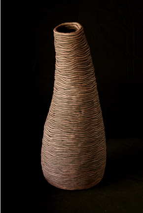 _bell series_, 2007, stoneware ceramics, oxides, 57cm(h)x25(w), photographer -  Cathy Keys