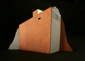 _no room in the boom (or bust) I_, 2009, earthenware ceramics, oxides, 42cm(h)x55(l)x20(w), photographer -  Cathy Keys