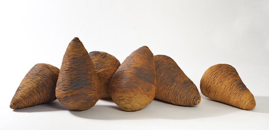 _nut series_, 2012, stoneware ceramics, oxides,  40cm(h)x200(l)x60(w), photographer - Gary Mitchell